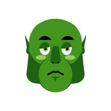 Ogre Sad Emoji. Goblin Sorrowf...