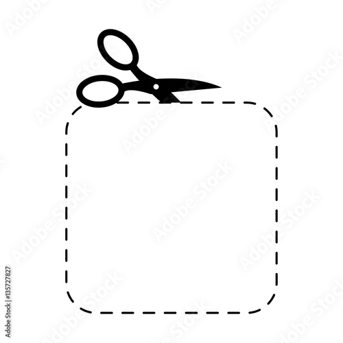scissors square template sign symbol cut with shears buy this