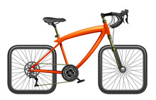 Bicycle With Square Wheels