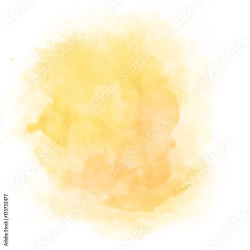 Orange watercolor splash Fototapete