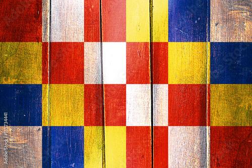 Foto op Plexiglas Antwerpen Vintage antwerp, antwerpen flag on grunge wooden panel