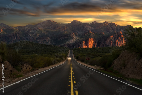 Sunset Highway Wallpaper Mural