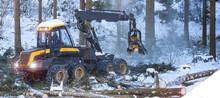Modern Forestry Machine In A W...