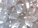 Fototapeta Kamienie - layered texture triangular diamond or crystal shapes background. 3d rendering model