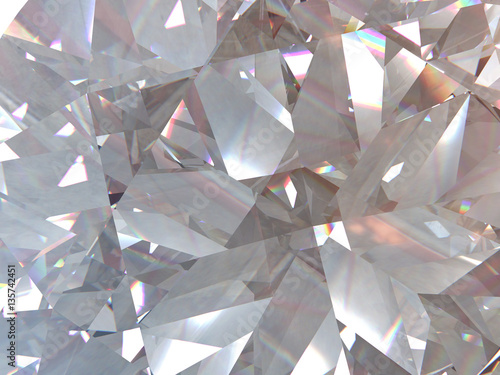 layered texture triangular diamond or crystal shapes background Poster Mural XXL