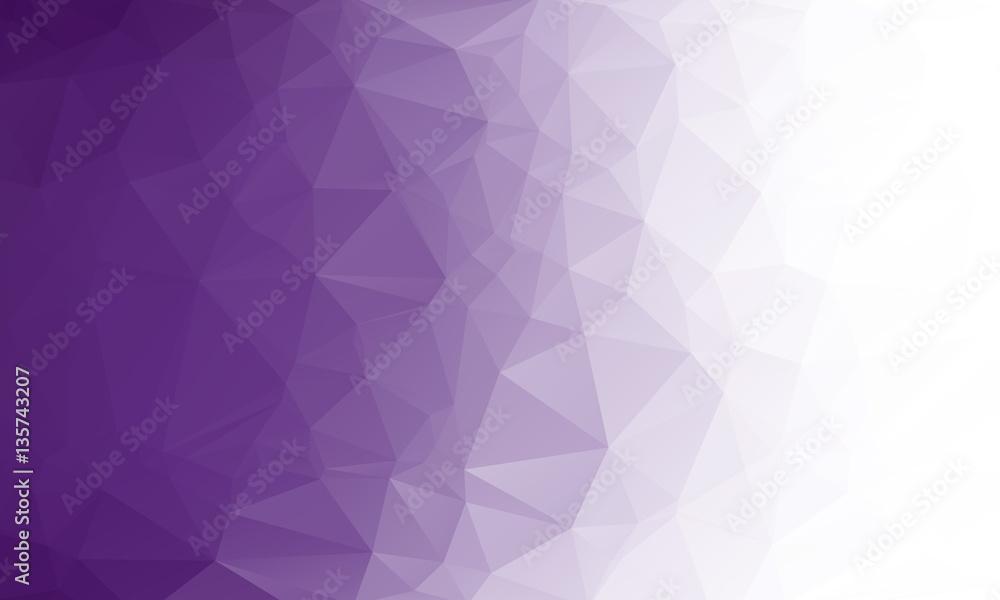 Fototapety, obrazy: Polygon purple gradient background
