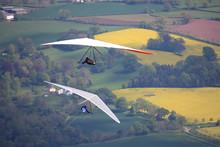 Hang Gliders Flying