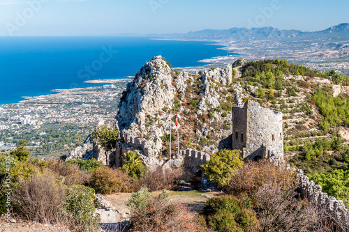 Poster Ruine Ruins of St Hilarion Castle. Kyrenia District, Cyprus