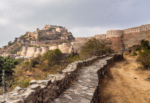 Fortification Kumbhalgarh Fort in Rajasthan