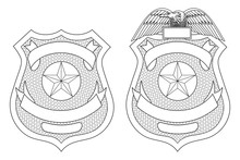 Police Law Enforcement Badge O...