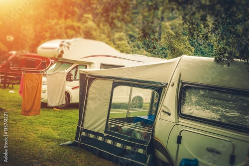 Photo Summer RV Camper Camping