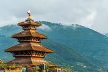 Nyatapola Temple On Bhaktapur Nepal
