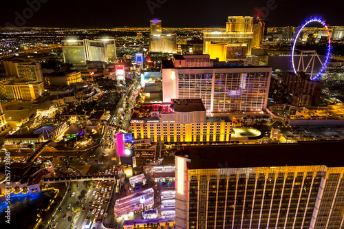 Photo sur Toile Las Vegas Las Vegas night
