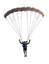 Extreme Sport Skydiver Closeup