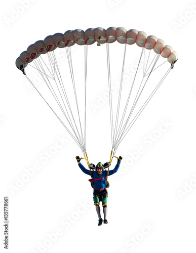 Photo sur Toile Aerien extreme sport skydiver closeup