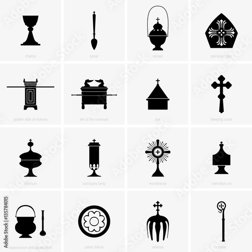 Vászonkép Religious and Mass Items