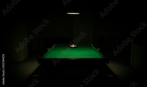 Photo snooker in the dark