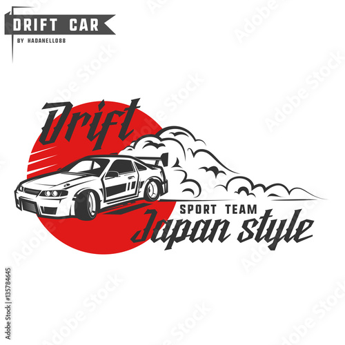 Drift sport team print for t-shirt,emblems and logo. Poster Mural XXL