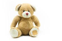 Brown Teddy Bear Toy Sitting O...