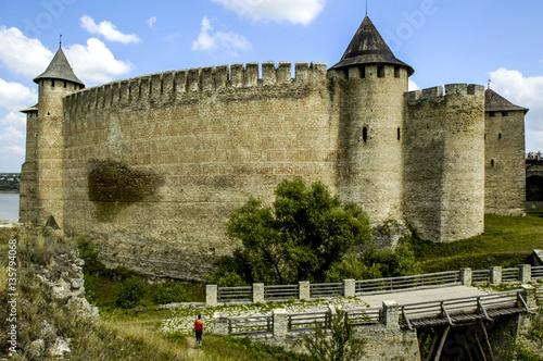 Fotobehang Fantasie Landschap Chotyn, fortress, Ukraine, Western Ukraine