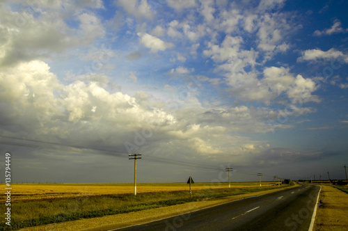 Foto op Canvas Fantasie Landschap Crimea, near Stepne, Ukraine, Stepne