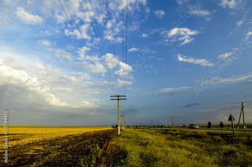 Deurstickers Fantasie Landschap Crimea, near Stepne, Ukraine, Stepne