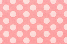Detail Pattern Of Red Leather With Pink Dot.