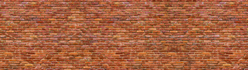 Panel Szklanygrunge brick wall, old brickwork panoramic view