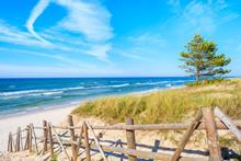 Entrance To Sandy Bialogora Beach, Baltic Sea, Poland