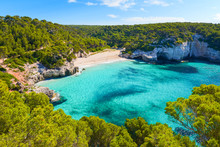 View Of Mitjaneta Beach With B...