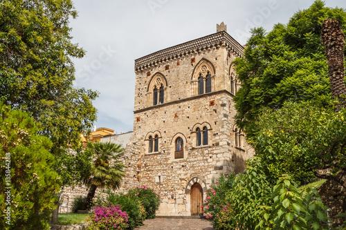 Fényképezés  Medieval palace in the historic centre of Taormina, Sicily islan