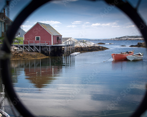 Photo  Dorys at rest, Peggys Cove, Nova Scotia