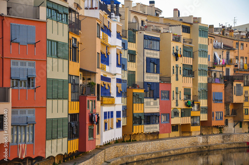 Hanging Houses on the Oñar River, Gerona, Girona, Cataluña, Catalonia, Spain