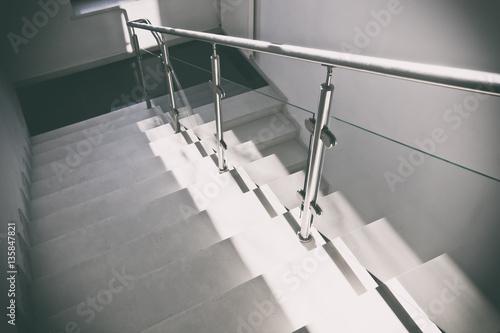 Fotografia Grey concrete stairs
