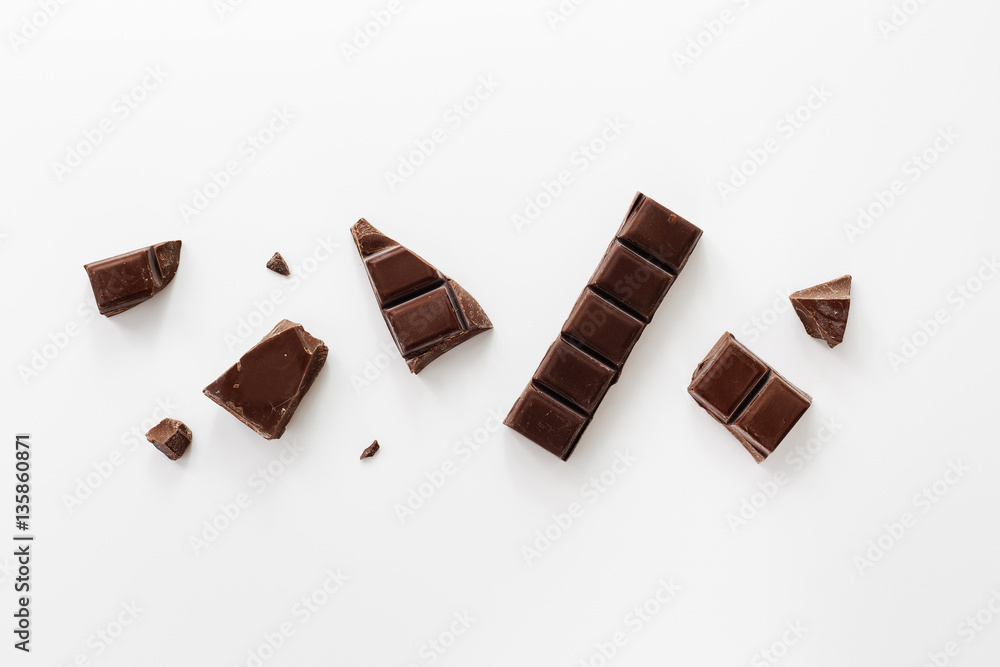 Fototapety, obrazy: Chunks of Dark Chocolate