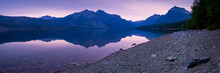 Sunrise At Lake Mcdonald Panorama