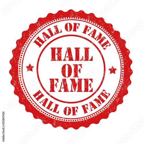 Valokuvatapetti Hall of fame sign or stamp