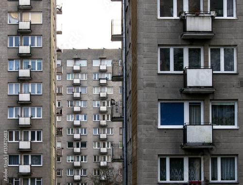 communist architecture Obraz na płótnie
