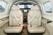 Interior single piston aircraft. Small private aircraft interior and dashboard. matrix