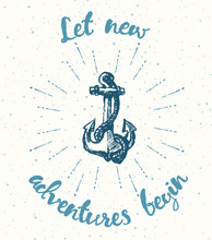 Drawn Adventure Time. Motivation Poster Anchor.
