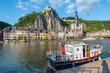 Meuse River passing through Dinant, Belgium.