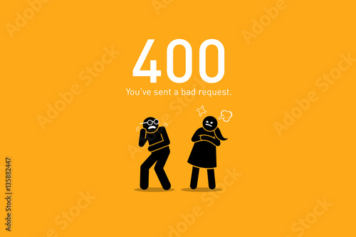 Fotografia  Website Error 400. Bad Request.