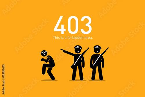 Fotografie, Obraz  Website Error 403. Forbidden.