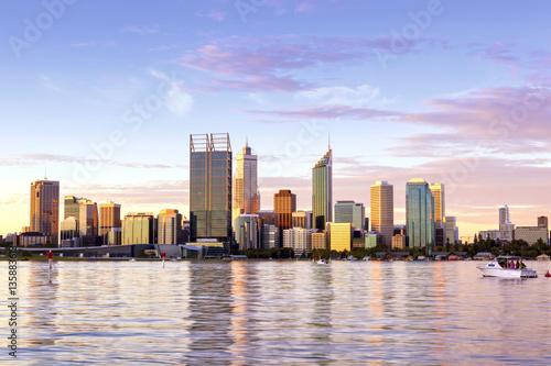 In de dag Australië Perth Western Australia skyline at Sunset