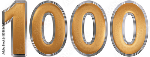 Fotografía  Numeral 1000, one thousand, isolated on white background, 3d ren