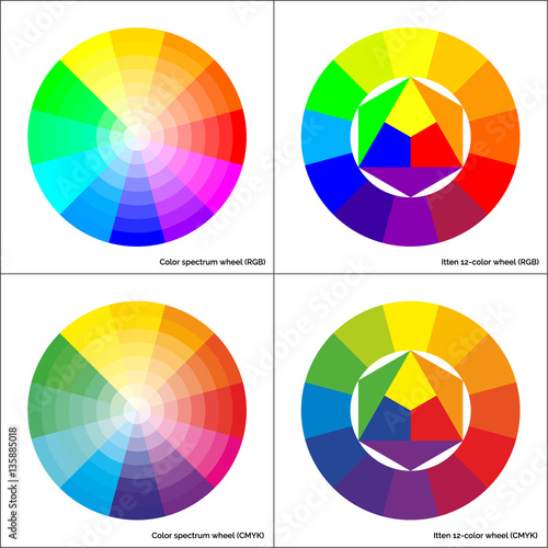vector color wheel and itten 12 colour circle buy this stock vector and explore similar. Black Bedroom Furniture Sets. Home Design Ideas