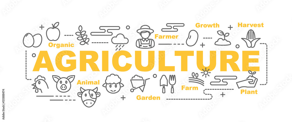 Fototapety, obrazy: agriculture vector banner