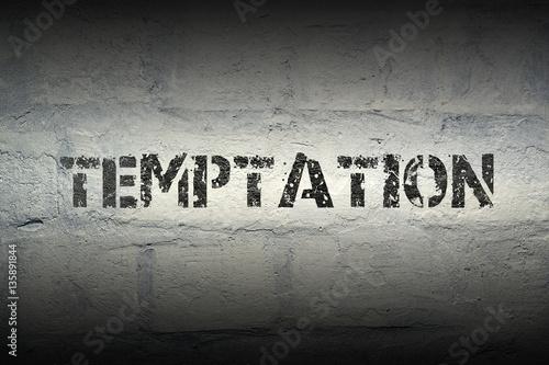 Canvastavla temptation WORD GR