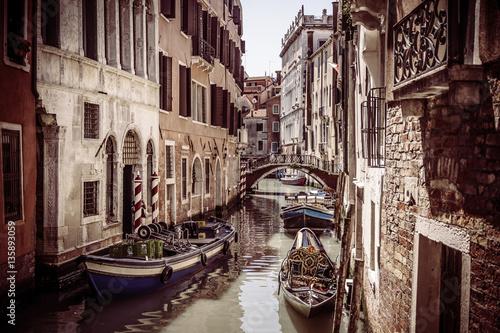 Leinwand Poster  Vintage scenic Venice city