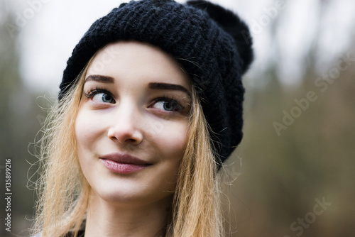 Portrait Of The Young Girl In A Cap With A Pompon